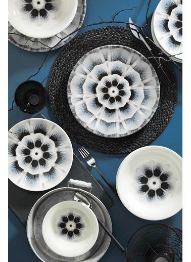 Kütahya Porselen Nanoceram 24 Parça Yemek Seti 89014 Renkli